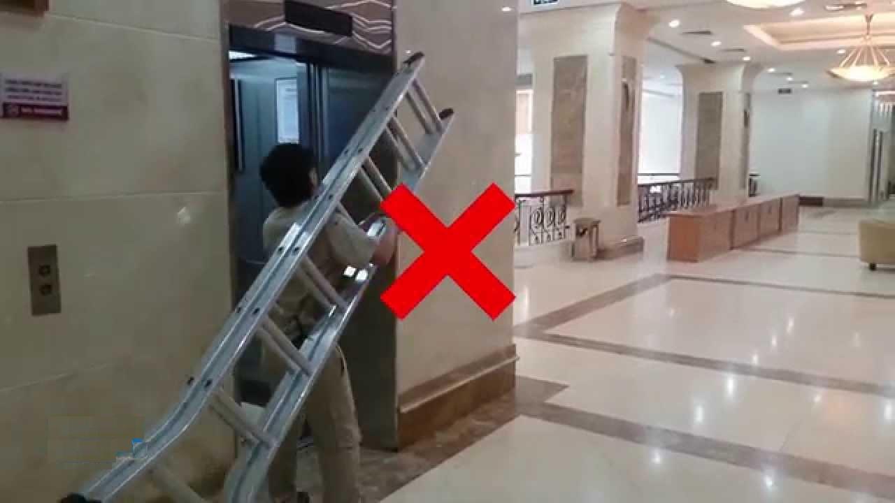 Dùng thang máy sai nguyên tắc, mục đích