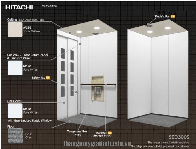 thang máy gia đình Hitachi Nhật Bản
