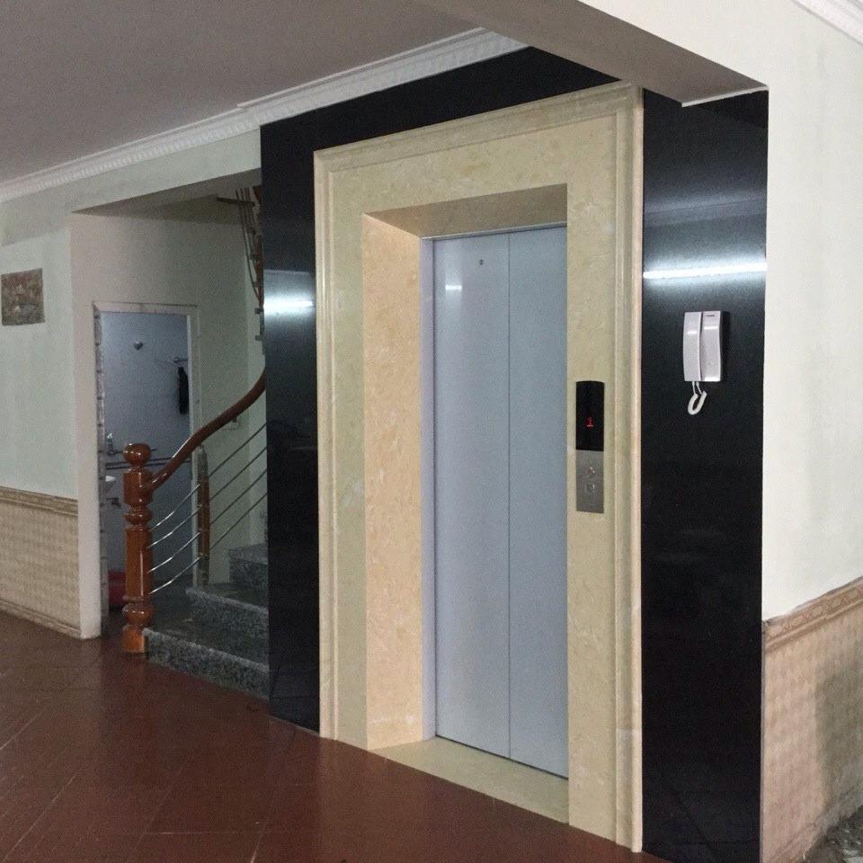 Cách ốp hoàn thiện cửa thang máy