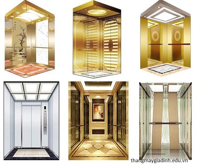 Những chất liệu cabin thang máy phổ biến hiện nay