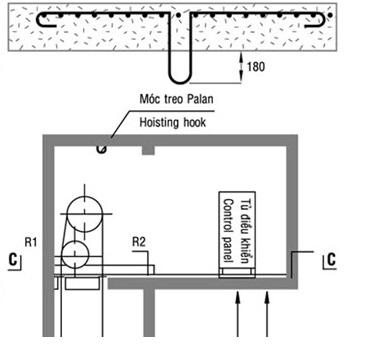 Tác dụng của móc treo pa lăng trong hố thang máy