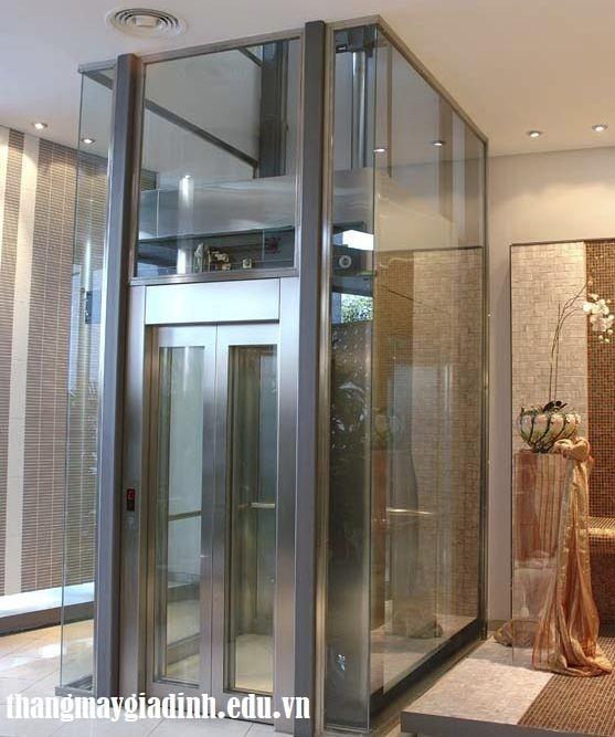 Đánh giá về thang máy lồng kính cho gia đình